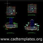 Tower Crane Raft Foundation Details CAD Template DWG