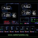 Traction Machine Plans and Sections Details CAD Template DWG