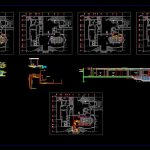 Villa With Swimming Pool Elevations and Sections Details CAD Template DWG