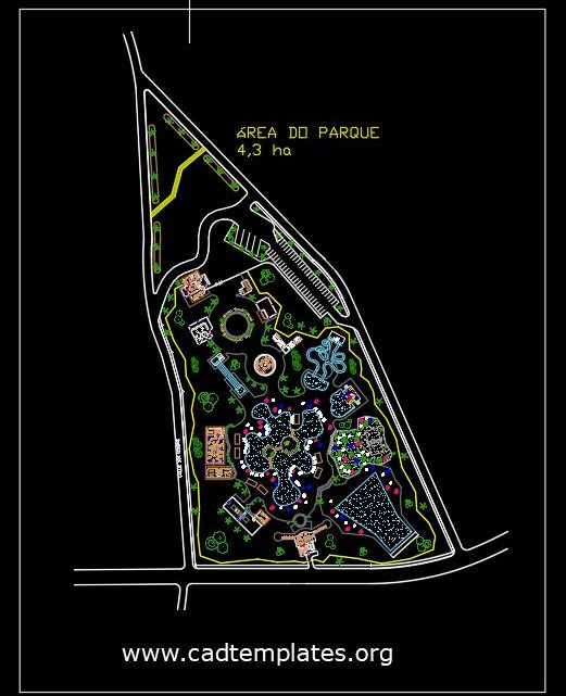 Water Park Design Layout Plan CAD Template DWG