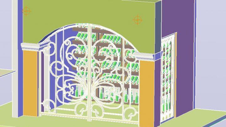 Wine Cellar 3D Model CAD Template DWG