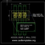 Access Door to Drainage Stacks Cleanouts Detail CAD Template DWG