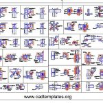 All Steel Connection Fabrication Types CAD Template DWG