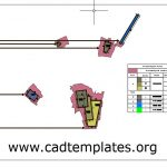 Archeaological Areas for Construction Site Autocad Template DWG