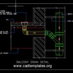 Balcony Drain Detail CAD Template DWG