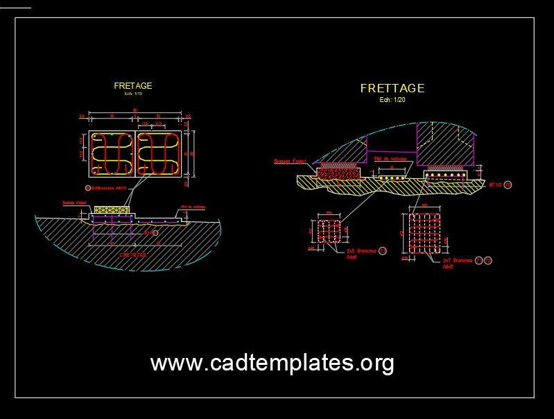 Bridge Bearing Reinforcement Details CAD Template DWG