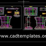 Bridge Concrete Pier Reinforcement Details CAD Template DWG