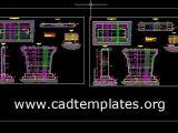 Bridge Concrete Pier Reinforcement Details CAD Template DWG