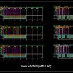 Bridge Deck Scaffolding Details CAD Template DWG