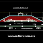 Busway Layout Plan Detail CAD Template DWG