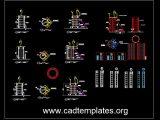 Circular Column Scaffolding Details CAD Template DWG