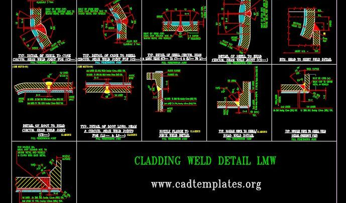 Cladding Weld Detail LMW CAD Template DWG
