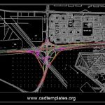 Cloverleaf Interchange General Layout Plan CAD Template DWG