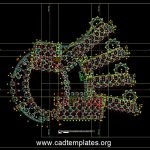 College Master Foundation Plan CAD Template DWG