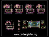 Concrete Walls Reinforcement Details CAD Template DWG