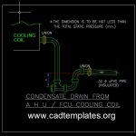 Condensate Drain From AHU and FCU Cooling Coil Detail CAD Template DWG