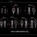Crane Hook Sections Details CAD Template DWG
