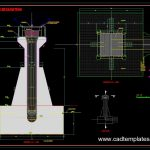 Dam Intake Shaft Shuttering Sections Details CAD Template DWG