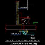 EWC Vent Connection Detail CAD Template DWG