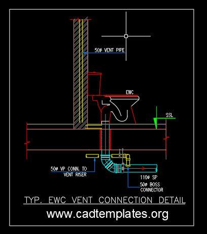 EWC Vent Connection Detail CAD Template DWG