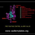 Fire Fighting Control Alarm Valve Detail CAD Template DWG