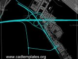 Full Cloverleaf Interchange Layout CAD Template DWG
