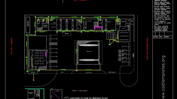 Gasoline Plumbing Layout Plan CAD Template DWG
