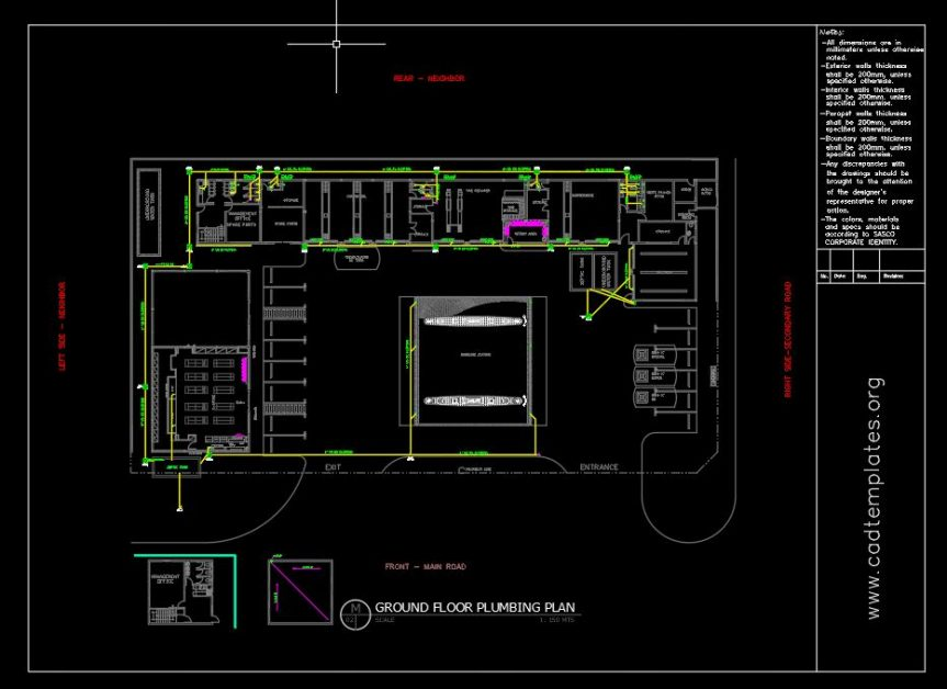 Gasoline Plumbing Layout Plan Cad Template Dwg Cad Templates