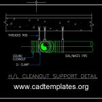 H/L Cleanout Support Detail CAD Template DWG