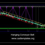 Hanging Conveyor Belt Structural Details CAD Template DWG