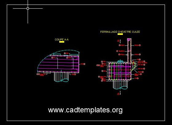 Header of Bridge Pile Details CAD Template DWG