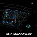 Overall External Water Line Layout CAD Template DWG