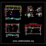 Overhead Crane Structural Details CAD Template DWG