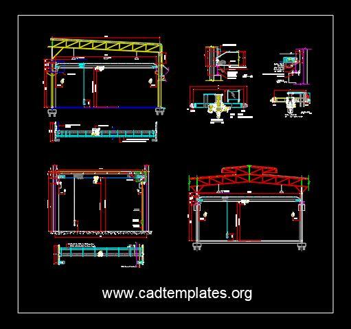 Overhead Crane Structural Details CAD Template DWG