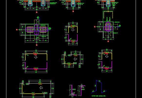 Pile Cap Reinforcement Details CAD Template DWG