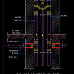 Pipe Connection to Riser Detail CAD Template DWG