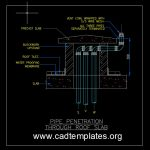 Pipe Penetration Through Roof Slab Detail CAD Template DWG
