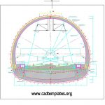Railway Tunnel Typical Cross Section Details Autocad Template DWG