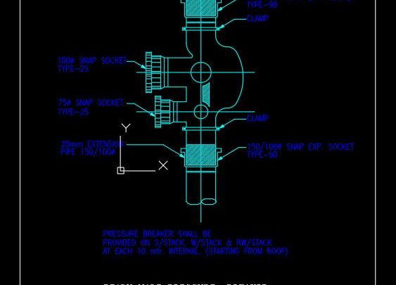 Ready Made Pressure Breaker Details CAD Template DWG