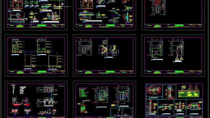 Residential Modern Contemporary Building Reinforcement Details CAD Template DWG