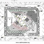 Residential Tower HVAC Site Plan Autocad Template DWG