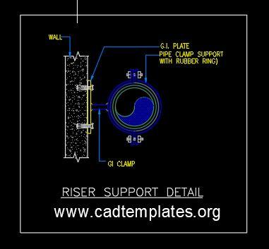 Riser Support Detail CAD Template DWG