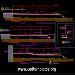 Road Concrete Pavement Cross Section Detail CAD Template DWG