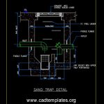 Sand Trap Detail Autocad Template DWG