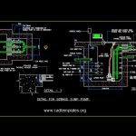 Sewage Sump Pump Section Details CAD Template DWG