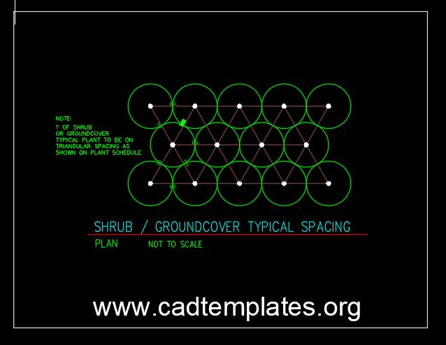 Shrub – Groundcover Typical Spacing CAD Template DWG