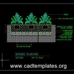 Shrubs Planting Details CAD Template DWG