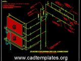 Stacked Cooling and Heating Coil Connections Details CAD Template DWG