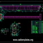 Steel Girder Section Details CAD Template DWG
