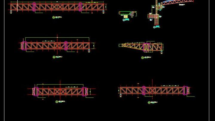 Steel Truss With Corbel Details CAD Template DWG